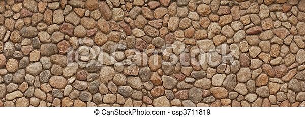vägg, fält, sten - csp3711819
