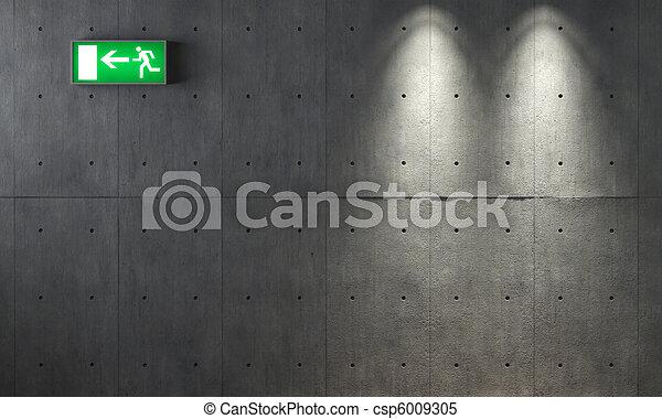 vägg, konkret, grunge, struktur - csp6009305
