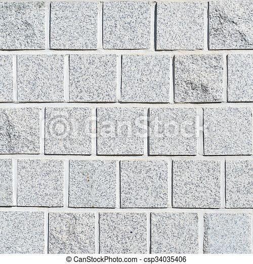 vägg, mönster, struktur, bakgrund., vita tegelsten - csp34035406