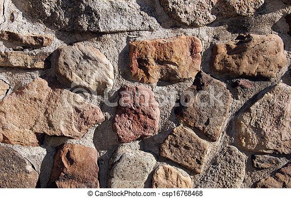 vägg, sten, bakgrund - csp16768468