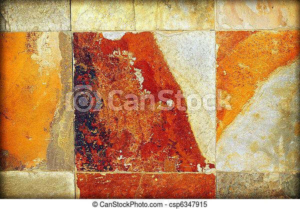vägg, sten - csp6347915