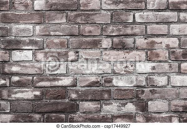 vägg, tegelsten, bakgrund, struktur - csp17449927
