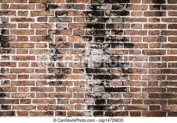 vägg, tegelsten, bakgrund, struktur - csp14729633