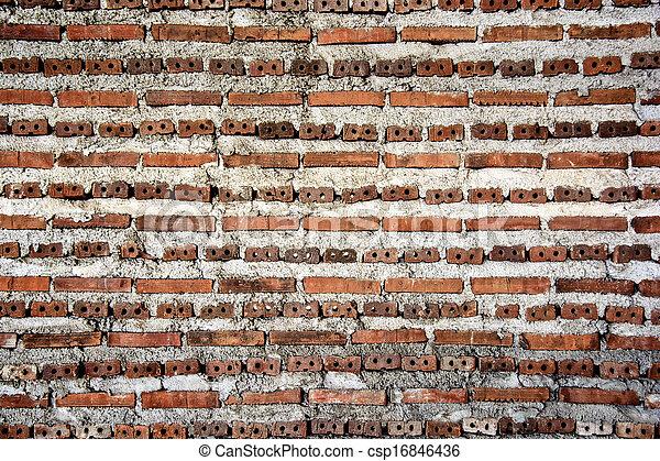vägg, tegelsten, bakgrund, struktur - csp16846436