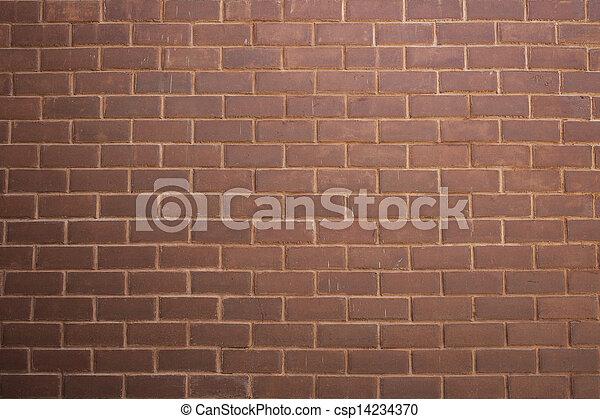 vägg, tegelsten - csp14234370