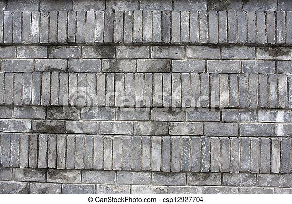 vägg, tegelsten - csp12927704