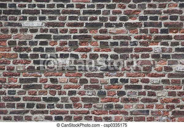 vägg, tegelsten - csp0335175