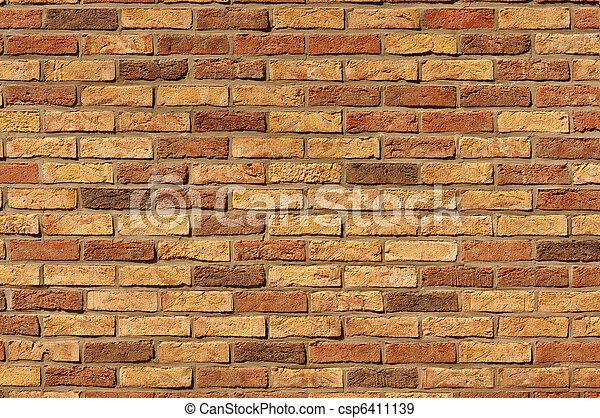 vägg, tegelsten - csp6411139