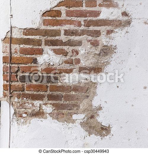 vägg, tegelsten, struktur, bakgrund - csp30449943