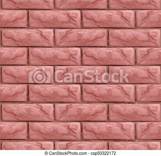 vägg, tegelsten, struktur, seamless, bakgrund - csp50322172