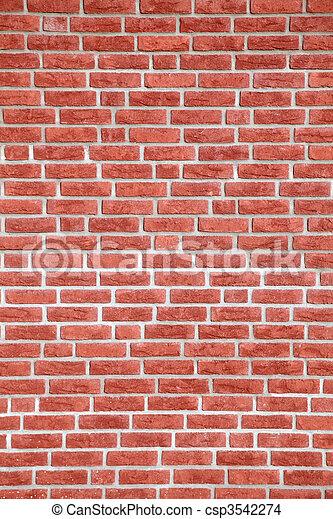 vägg, tegelsten, struktur - csp3542274