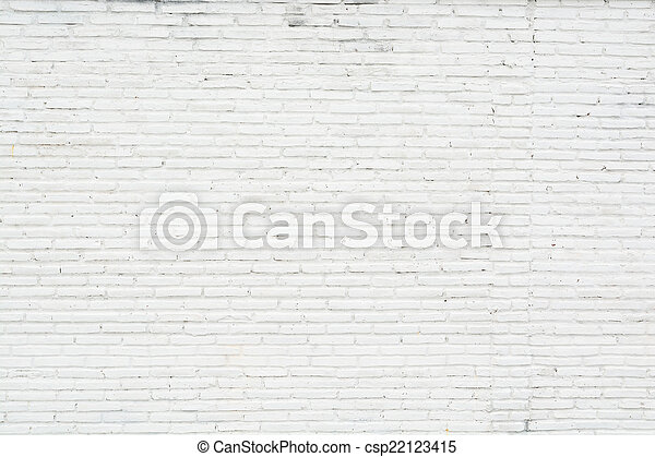 vägg, vit, grunge, tegelsten, bakgrund - csp22123415