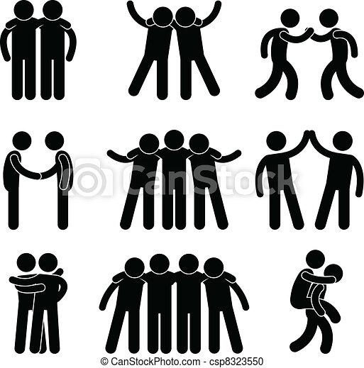vänskap, vän, förhållande, lag - csp8323550