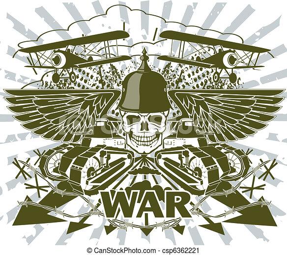 värld, emblem, krig - csp6362221