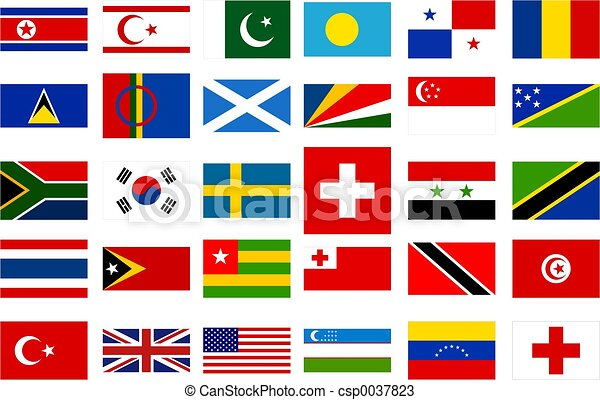 värld, flaggan - csp0037823