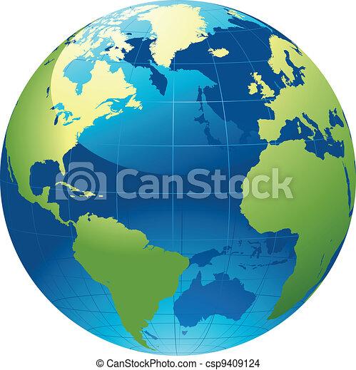 värld glob - csp9409124