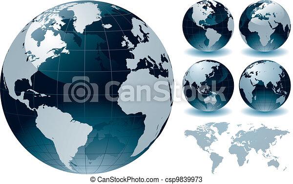 värld glob - csp9839973