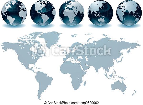 värld glob - csp9839962