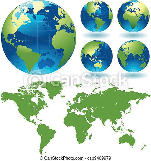 värld glob - csp9409979