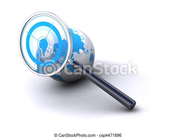 värld, lokalisering - csp4471896