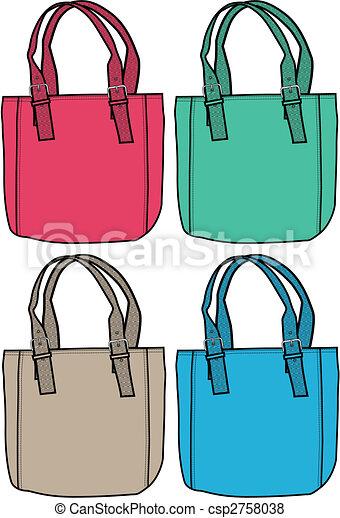 väska, mode, illustration - csp2758038