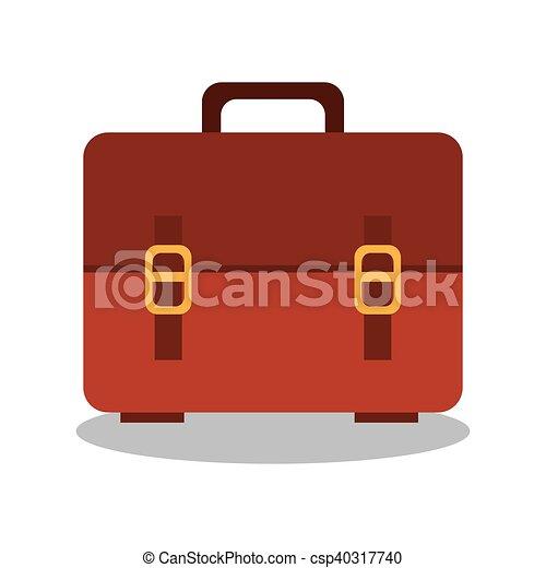 väska, skola, design, tecknad film, ikon