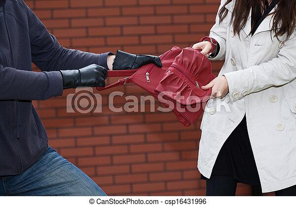 väska, stöld - csp16431996