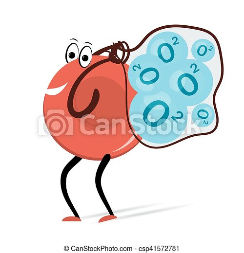 väska, transporter, molekylen, erythrocyte, syre - csp41572781