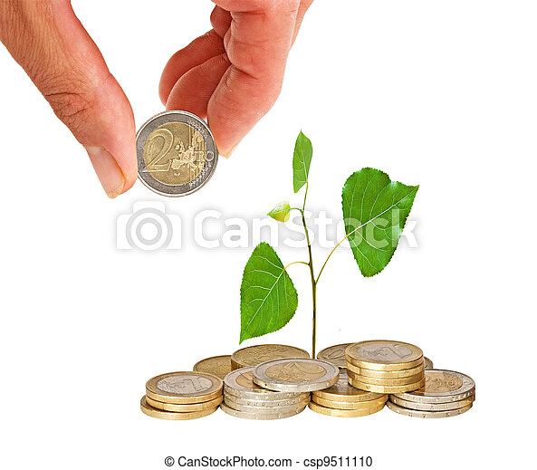 växande, mynter, träd - csp9511110