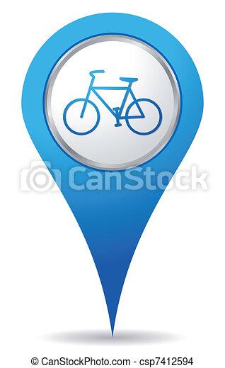 vélo, emplacement, icônes - csp7412594