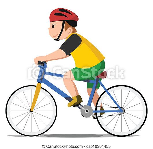 vélo, gosse - csp10364455