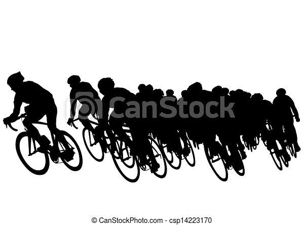 vélo, groupe - csp14223170
