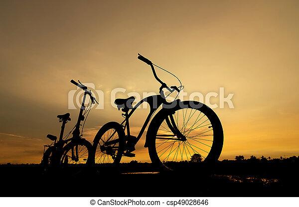 vélo, silhouette - csp49028646