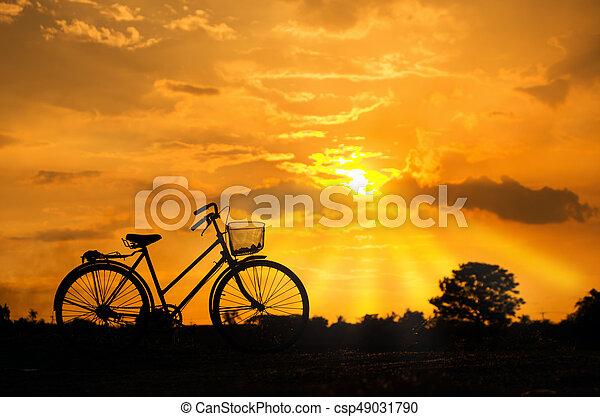 vélo, silhouette - csp49031790