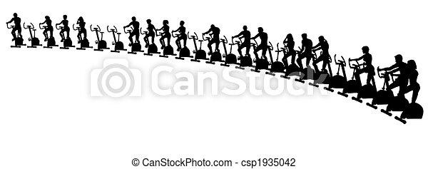 vélos, exercice - csp1935042