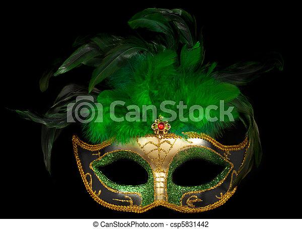 v nitien noir masque vert masque th tre isol v nitien vert noir. Black Bedroom Furniture Sets. Home Design Ideas