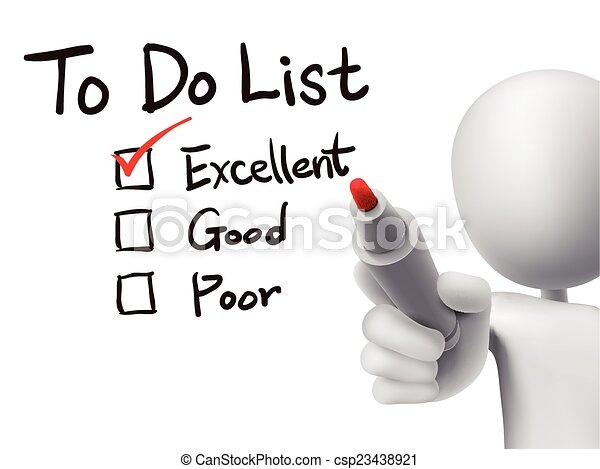 vérification, 3d, liste, homme - csp23438921