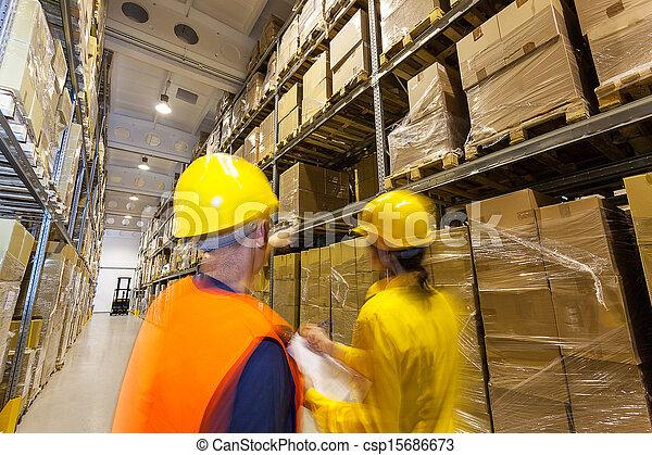 vérification, entrepôt, produits - csp15686673