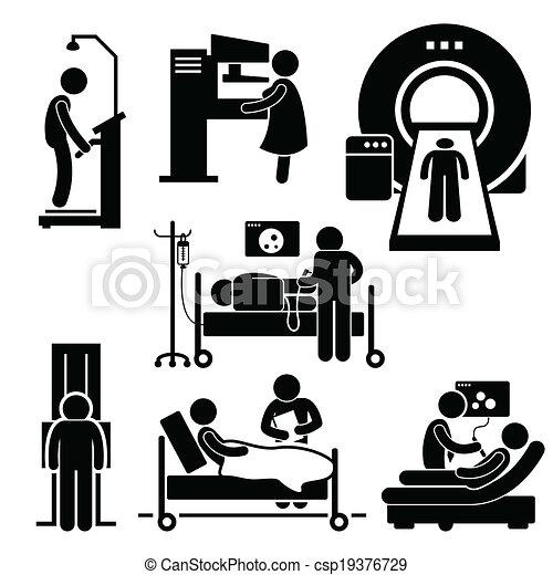 vérification, hôpital, monde médical, diagnostic - csp19376729