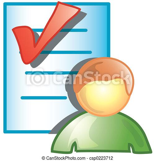 vérification, personne, icône - csp0223712