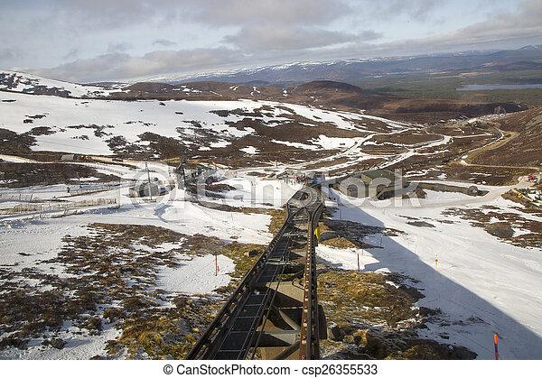 El ferrocarril funicular - csp26355533