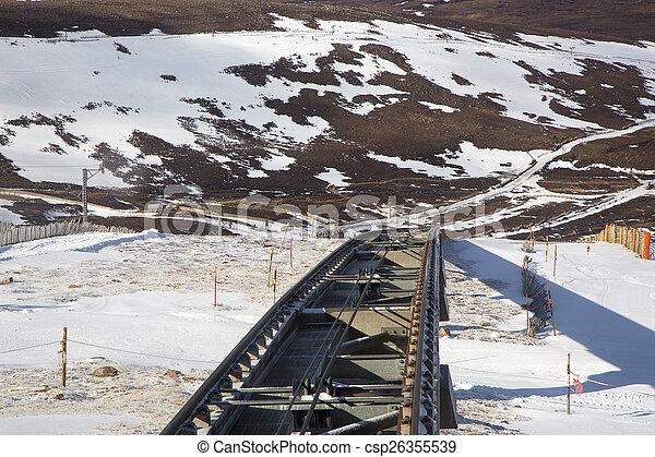 El ferrocarril funicular - csp26355539