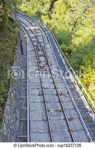 Ferrocarril funicular - csp16237126