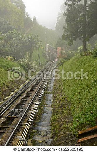 El ferrocarril funicular - csp52525195