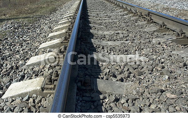 Huellas de ferrocarril - csp5535973