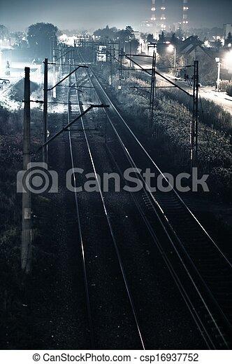 Huellas de ferrocarril - csp16937752