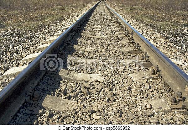 Huellas de ferrocarril - csp5863932