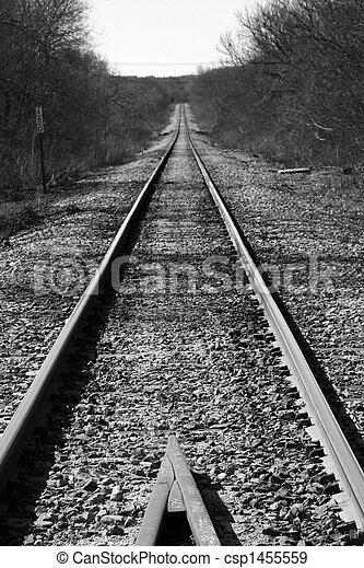 Huellas de ferrocarril - csp1455559