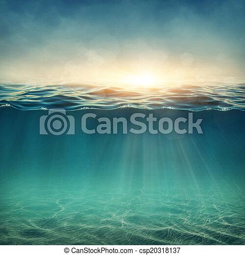 víz alatti, elvont, háttér - csp20318137
