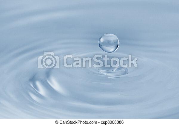 víz, esés, csepp - csp8008086